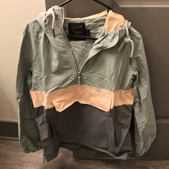 Urban Outfitters Jackets & Blazers - Urban Outfitters gray & pink rain jacket pullover